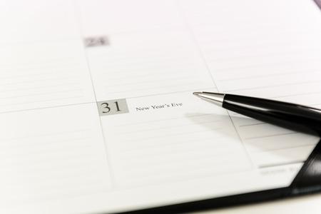 31: December 31 on Calendar schedule paper