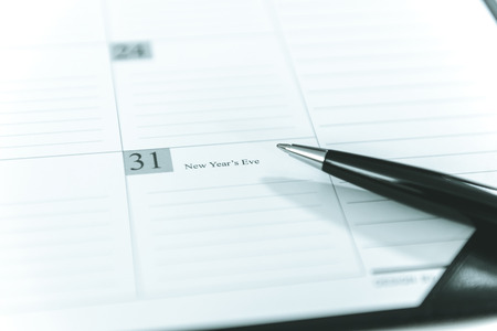 december 31: December 31 on Calendar schedule paper