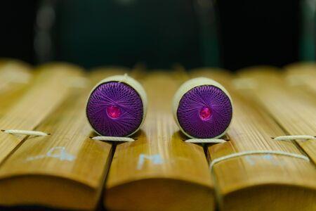 xilofono: Xilófono de madera tailandés tradicional, musical tailandés