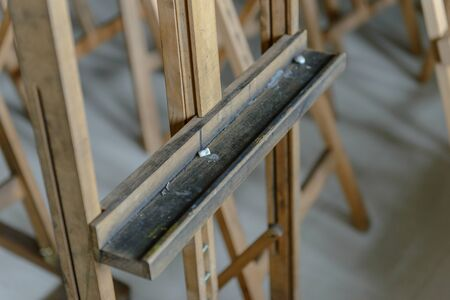 Close-up easels in the studio