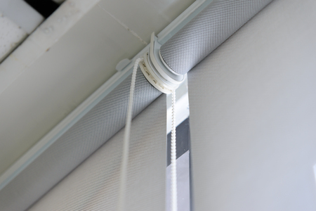 roller: close up part of roller blind Stock Photo