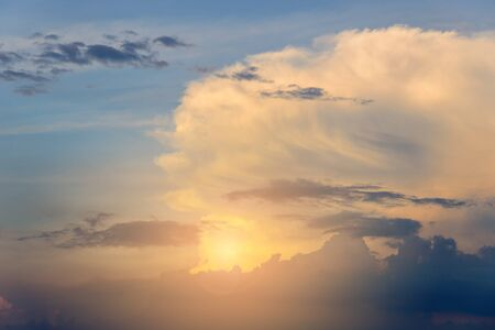 cumulus: Cumulus clouds on sunset time, cloudscape