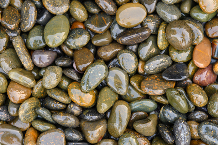 be wet: Pebbles be wet on the ground, background
