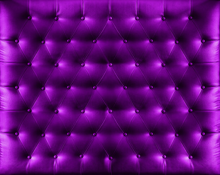 Close up retro chesterfield style, Purple capitone textile background Stock Photo