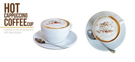 Coffee in coffee cafe isolated on white background Reklamní fotografie