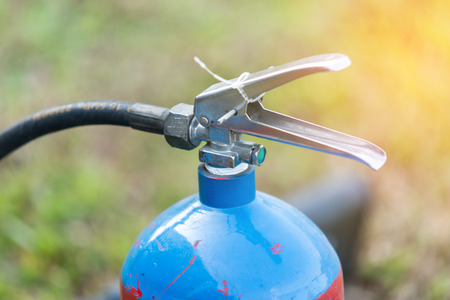 Fire extinguisher tank on outdoor