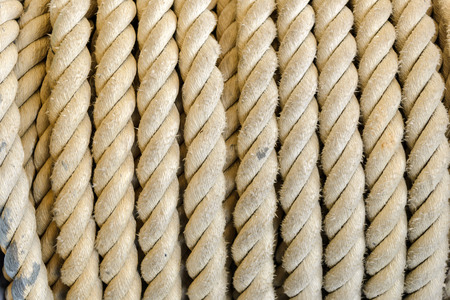 rope on winch roll machine Banque d'images - 124774836