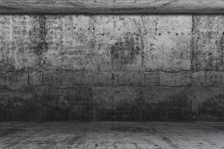 Empty concrete room, Background for product display and copy space 스톡 콘텐츠