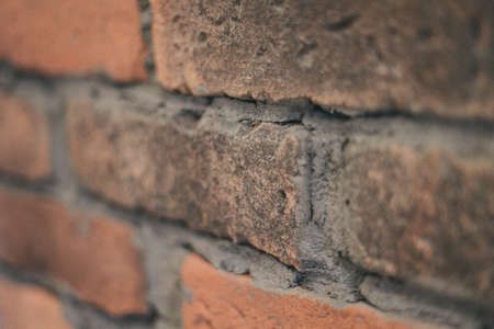 Brick wall close up of the individual stone stone wall clean