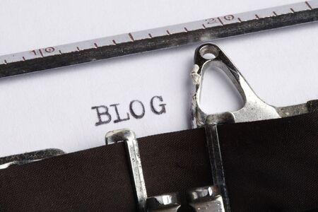 Blog on old typewriter