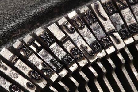 Typeface of old typewriter