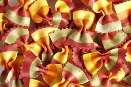 Italian Pasta - colorful bow tie pasta with natural ingredients