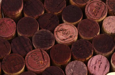Dark red cork background