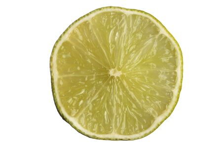 Slice of Lime on white Stock Photo