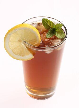 Ice tea with lemon and mint