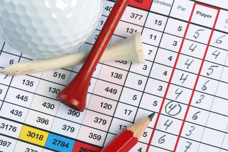Golf Scorecard with Birdie