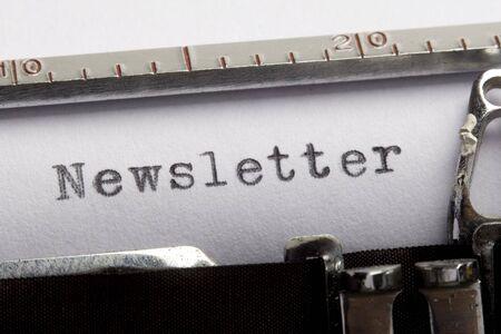Newsletter written on an old typewriter Stock Photo - 5140445