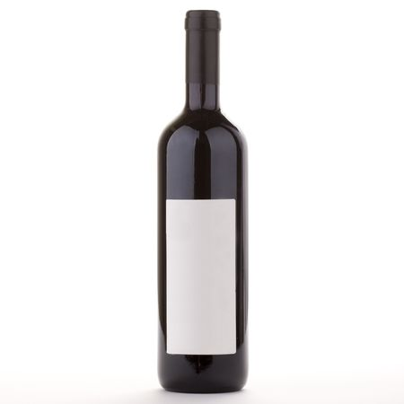 Bordeaux Wine bottle with blank label