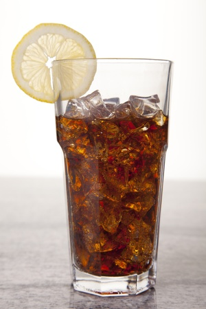 Fresh Cola with lemon and ice