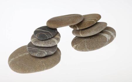 Bridge built of round pebbles