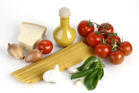 Ingredients for Spaghetti Napoli