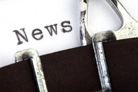 News written on old typewirter
