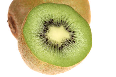 Juicy Kiwi Fruits on white background