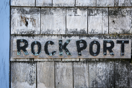 Sign on a lobster shack in Rockport, MA Stock Photo - 57856726