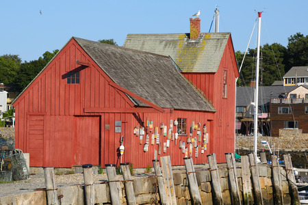 Lobster shack and landmark of Rockport, MA