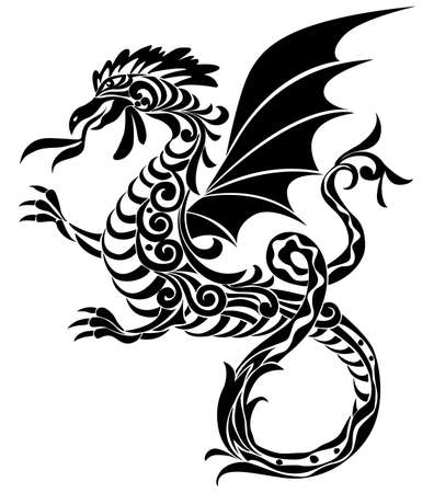 aerial animal: Arabesque dragon