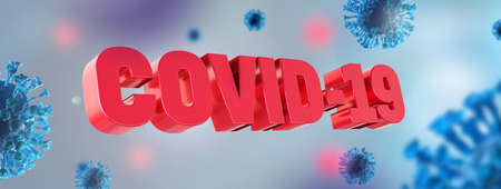 Covid-19 coronavirus background. National epidemic lock down. Protection from virus by stay at home. 3d rendering. Standard-Bild