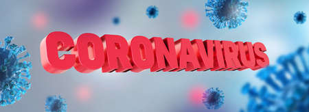 Coronavirus Covid-19 pandemic background. National epidemic lock down. Protection from virus by stay at home. 3d rendering.