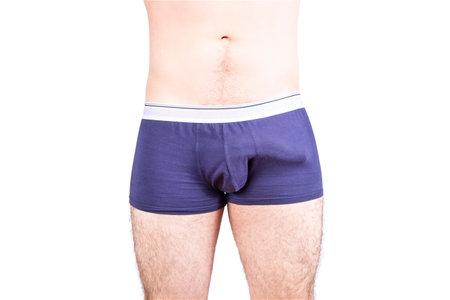 Man penis erection in underwear. Penis size and potency  concept. Standard-Bild