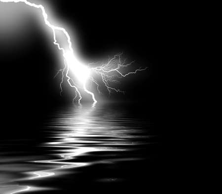 lightnings: thunder on sea