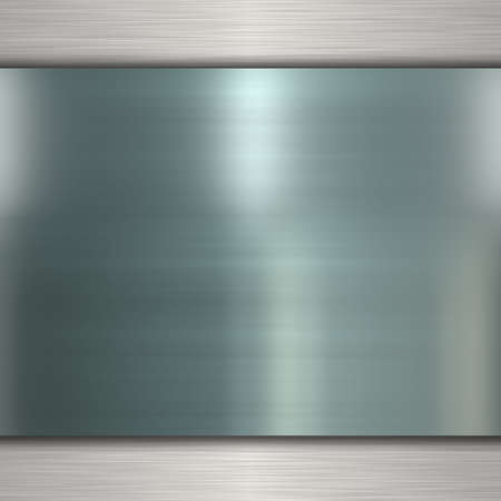 brushed steel: metal banner