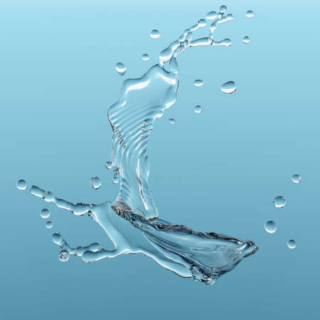 water on blue background Stock Photo - 9344878