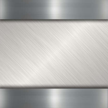 brushed steel background: silver metal