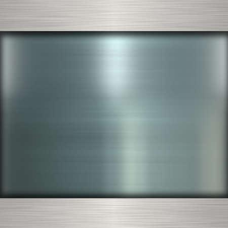 metallic: metal banner