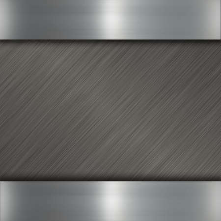 brushed steel: dark metal Stock Photo
