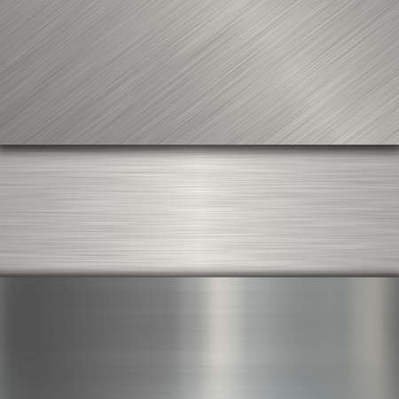 brushed steel: metal plate Stock Photo