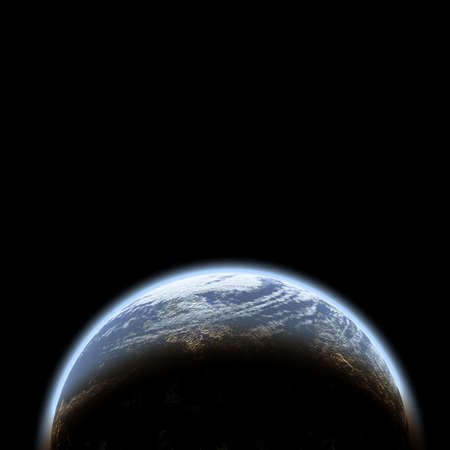planet in space photo