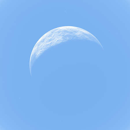 moon at day photo
