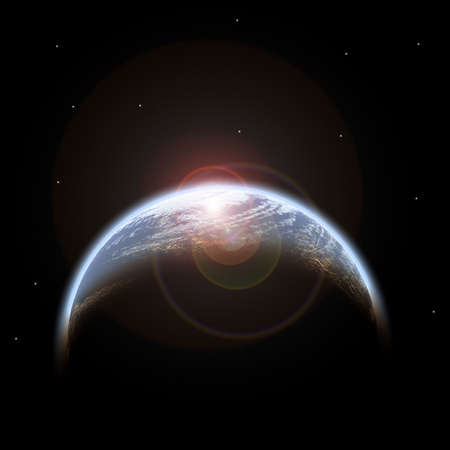 planet in space Stock Photo - 9878171
