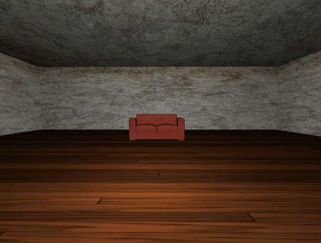 grunge room Stock Photo - 9878197