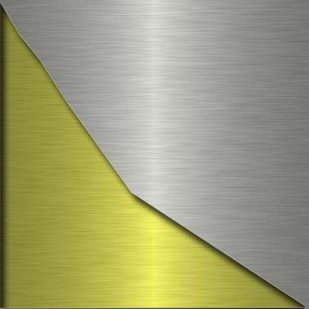 hard alloy: metal plate Stock Photo