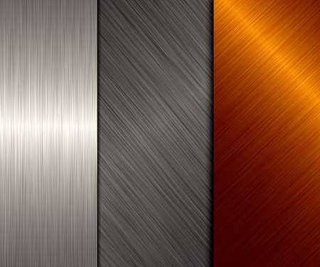 brushed metal: gold and silver metal