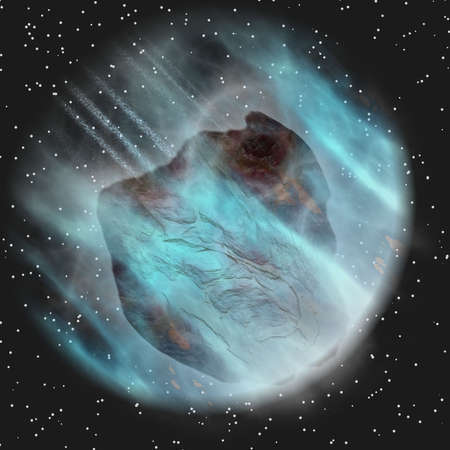 asteroid in space Stock Photo - 11162056