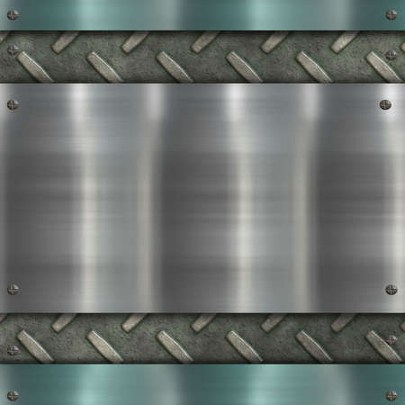 brushed metal: metal background