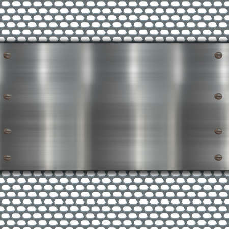rectangle patterns: metal banner