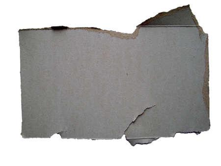 isolated cardboard photo
